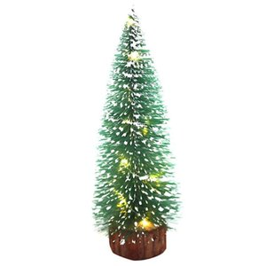 Christmas New Mini Light Pine Needles With White Cedar Flocking Small Christmas Tree Decorations Desktop Ornaments