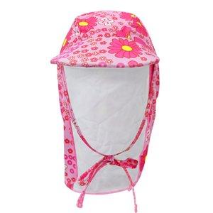 Открытый летний мультфильм Baby Дети купание Cap Sun Protection Sun Шляпа Waterproof для мальчиков девочек детей Hat