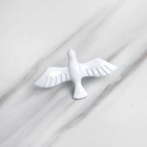 Dove posta güvercini seramik doku beyaz zarif kişiliği emaye süsleme broş Ceketinizin rozet süsleme kombinasyon pimleri