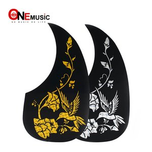 "10 pcs Estilo comma Colibri Flower Pickguard Pick Guard Anti-scratch Plate for 40 "" 41 "" Acoustic Guitar Black"
