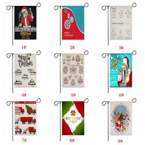Красочные Санта-Клауса сад Флаг Yard висячие Рождество Флаг Баннер Письмо Printed льняной Xmas Флаг Рождественские украшения сада DBC VT0859