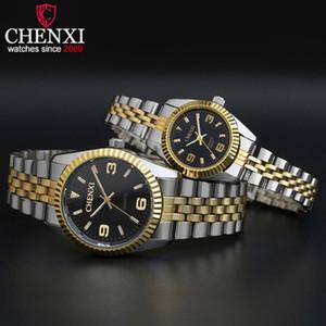 Chenxi Top Marque Montre Femme Quartz-Montres Femmes Hommes Simple Dial Lovers Quartz Loisirs Mode Montres-bracelets Relogio Feminino