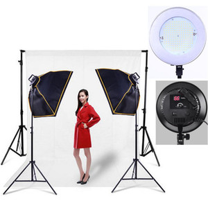Freeshipping Free Tax to Russia 110-240V Fotografia Photographic Photographic Softbox LED Kit di illuminazione continua Dimmer Lights Lights