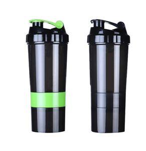 J Shaker Bottle for Sport BPA Free Frasco irrompible A prueba de fugas Protein Shaker bottle 17 oz gym Shake Copas