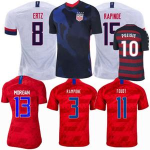 20 21 América Casa longe EUA Soccer Jersey 2017 2018 2019 2020 2021 Estados Unidos da camisa do futebol EUA homens, mulheres e crianças Futebol camisa do uniforme