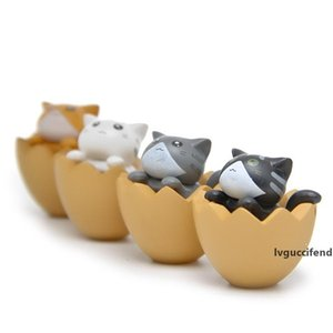 Cute Cat In Eggshell Action Figure Dolls DIY Micro Landscape Decor Supplies Lovely Simulation Animal Garage Kit 1 25yl Ww