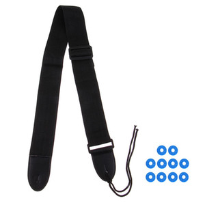 Adjustable Guitar Strap+10pcs Rubber Safety Strap Lock Block Washer for Guitar Accessory