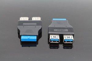 20Pin USB 3.0 Kadın Kablo Adaptörü Bağlayıcı Bilgisayar Anakart USB Dönüştürücü Kadın Kadın Bilgisayar Aksesuarları