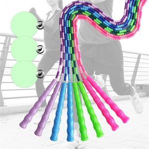 Гибкая Slub Веревка Пропуск Противоскользящие Ручки PP TPU Взрослые Дети Упражнение скакалки Fit Training Фитнес оборудование Расходные материалы 7 1jm E19