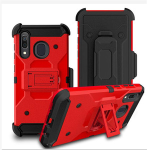 Clip de ceinture pour Samsung Galaxy A10E A20 A30 A50 Note 10 pro Defender Armure Case Hybrid Heavy Duty robuste Defender Holster de protection clip