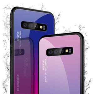 Закаленные стеклянные корпуса для Samsung Galaxy A70 Case A50 A30 A20E A20 A10 M30 M20 M10 A750 задний градиентный цветной бампер для A9Pro