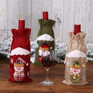 Carino bottiglia di vino del fumetto Covers creativo Babbo Natale Red Wine Set festivi del partito Decorazioni di Natale per Restaurant