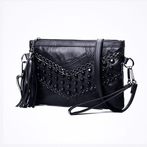 Brand Rivets Casual Crossbody Bags Fashion Genuine Leather Women Shoulder Bag Designer Handbags Ladies Hand Bag Spring Summer