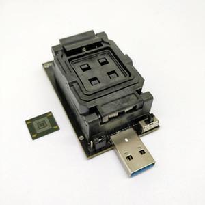 Freeshipping eMMC5.0 USB 3.0 arayüzü Test soketi eMMC 5.1 Test adaptörü eMMC çipleri için yüksek hızlı Hs200