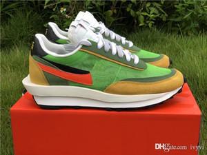 Yeni Sürüm LD WAFFLE SACAI Blazer Mid LDWAFFLE Erkek Kadın Yeşil Gusto Varsity Mavi Eğitmenler Sneakers BV0073-300 ile Kutu Koşu Ayakkabıları x