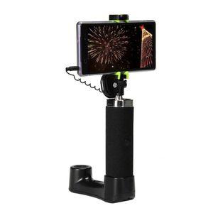 Multifunción de coches selfie del palillo con el asiento trasero del soporte del montaje del coche reposacabezas gancho de la suspensión de la ventana la luz de emergencia del interruptor para Android
