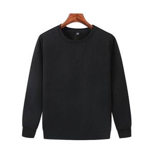 Les derniers automne et un pull noir à manches longues hommes hiver encolure ras du cou en laine polaire coton casual chemise JH-022-050