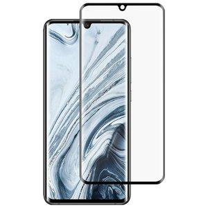 Para Xiaomi Mi Nota 10 Pantalla Lite completa Pegamento completa de cristal templado de Cine