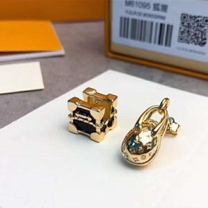 Hot sale new dinosaur egg suitcase asymmetric designer earrings luxury designer jewelry women earrings