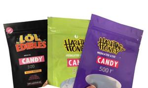 Médicamentés de HASHTAG MIEL LOL Sac d'emballage Comestibles Candy Bag Hashtag miel sac bonbons biscuits blancs Runtz ROSE Rozay Sorbet