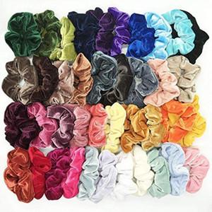 40pcs Bébé Girls Headwear Bandeaux Bandeau Enfants Velecture Elastic Cheveux Bands Princesse Girls Cheveux Caoutchouc Bands Enfants Accessoire