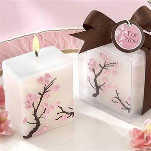 Winkel Baby-dekorative Kerze Peach Blossom Designs Kerzen Rauchfrei Wachs Weddding Geburtstags-Party-Dekoration 2 7HM E1