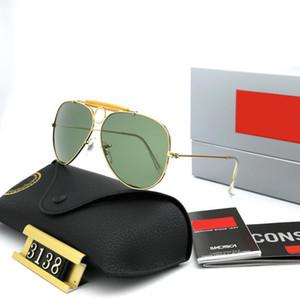 Lentes de sol 3138 gafas de sol para hombre de las mujeres de la lente polarizada pareja de moda las gafas de sol de conducción anti-UV lente HD del marco del metal de alta calidad