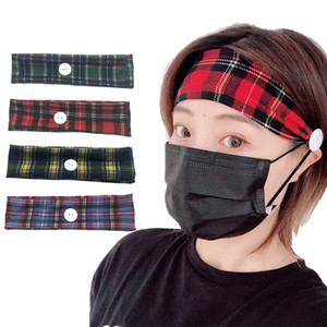 Горячая кнопка продажи оголовье держатель Ношение Protect Уши Unisex Идущие на резинке для волос Headwear Заставки с кнопками