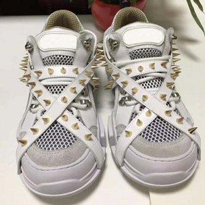 Spikes Flashtrek Sneaker mit Nieten Abnehmbare Spikes Herren Cowboy-Schuhe der beiläufigen Schuhe der Frauen Turnschuhe II8
