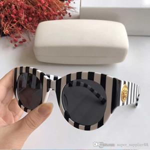 Neue Farbe Marke Mode Sonnenbrillen Cat Eye Rahmen Simple Classic Pop-Art-Schutz UV400 Weibliche Sonnenbrille Top-Qualität 4353