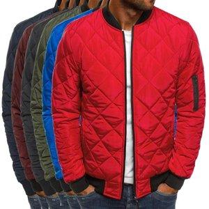 Slim Fit Утепленные пальто осень зима Мужская Легкий ветрозащитный Packable куртка Solid Color Jackests Outwear