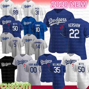 2020 Los Yeni Sezon Angeles Beyzbol Jersey Cody Bellinger 22 Clayton Kershaw 50 Mookie Betts Justin Turner Mike Piazza Hernandez Seager Ryu