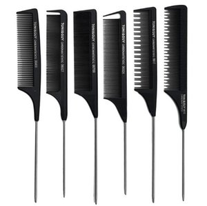 Professional Anti-Static Rat tail comb Metal hair comb hair salon use hair beauty tool Toni Guy