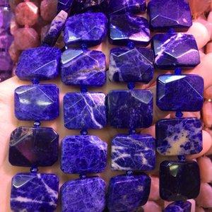 """Forma quadrada natural sodalite beads grânulos de pedra natural DIY contas soltas para fazer jóias strand 15 """"frete grátis"""