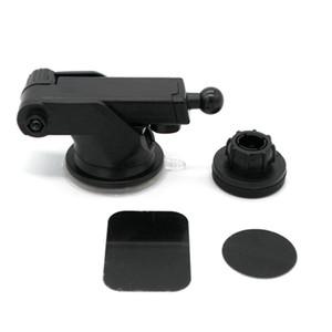 Voiture Support de fixation magnétique Détenteurs de téléphone Pare-brise Tableau de bord Cell 360 degrés de rotation de pieds réglables Avec Coupe forte aspiration