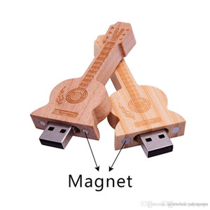 UK0001 Customized Logo Usb Pendrive Wooden Guitar USB Flash Drive 4gb 8gb 16gb 32gb 64gb USB 2.0 Memory Stick Wedding Gifts Pen Drive