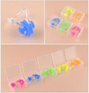 Otantik profesyonel burun klipsi kulaklıklar su geçirmez yüzme silikon burun klipsi kulaklıklar unisex set