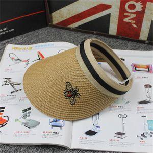 Verão Hat Mulher Little Bee viseiras Casquettes Caps Designer tampão do chapéu da praia Fitted Hats Hot Top Beanie Altamente qualidade