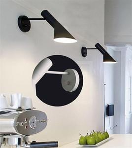 크리 에이 티브 현대적인 디자인 벽 회전 보루 빈티지 로프트 램프 AJ 벽 램프 화이트 / 블랙 램프가 조명 램프