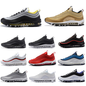 Nike air max 97 shoes airmax 97 NEW Bred 97 Herren Laufschuhe Realtree Weiß Evergreen Sunburst FASHION UNDFTD Olive Triple Black Team Red Men Sport Turnschuhe 40-45