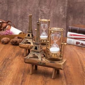 Новый Европейский Творческий Ретро Башня Деревянное Основание Песочные Часы Орнамент Простой Украшения Дома Аксессуары Современный Подарок На День Рождения