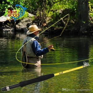 """New portable telescopic fly fishing rod 6'6"""" #3 traveller mini fly fishing rod fiber glass 5 SEC designed in USA made in china"""