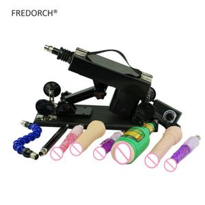 Love Machine FREDORCH Sexo para o homem e as mulheres com acessórios 8 vibradores brinquedos, automática sexmaschine bombeamento retrátil arma A2 T191225