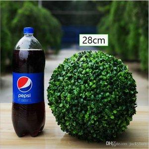 Simulazione di plastica della pianta verde erba palla ornamento Wedding Garden Party Decoration Fiori Artificiali fai da te sfera Many Size