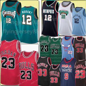 NCAA 12 Ja Morant Jersey 23 Michael Scottie Pippen 33 Jersey Colegio MJ 91 Dennis Rodman # 1996 jerseys del baloncesto de los hombres de Michael