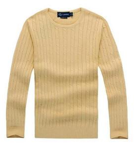 lauren ralph polo Ralph lauren del nuovo miglio Wile marca di polo maglione torsione in maglia di cotone da uomo di alta qualità maglione ponticello pullover alta qualityO2V7