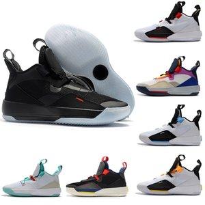 Баскетбол обувь Jumpman XXXIII 33 Мужские ботинки баскетбола высокого качества 33s Multicolors Черный Белый Зеленый Кроссовки Кроссовки Размер 40-46