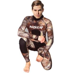 3,5 mm Neopren-Camouflage Herren Wetsuits Warm Voll Boydy Winter-Langarm-Schwimmen Tauchen Surfen Spear Wetsuit