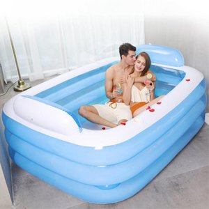150 180CM Inflatable Swimming Pool PVC Thickened 3-Ring Paddling Pool Bathing Tub Summer Indoor Swimming For Adult Kids