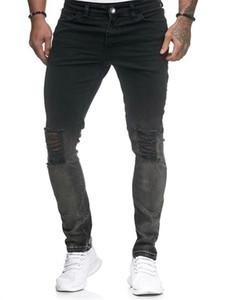 Hommes deisgner Jeans Mode Slim Pantalons Trou Lavé Pencli luxe Hommes Jeans Zipper